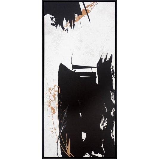 Quadro Tela Canvas Arte Moderna Desenho Abstrato 50x110 Cm
