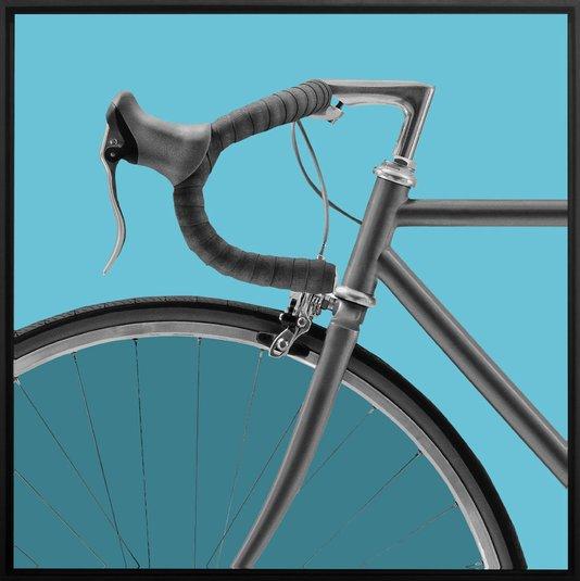 Quadro Tela Canvas Bicicleta em Tons Azuis Por Dorival Moreira