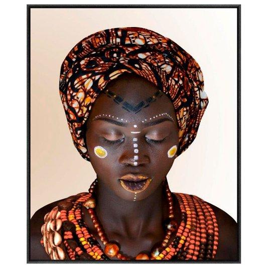 Quadro Tela Canvas com Moldura Arte Africana 150x180 cm
