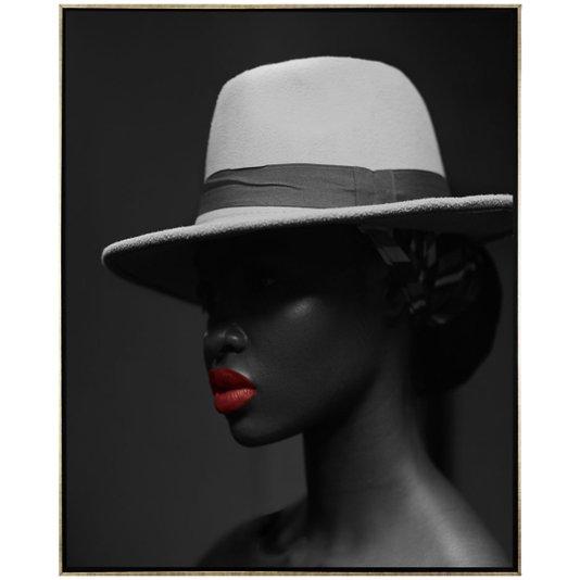 Quadro Tela Canvas com Moldura Beleza Africana 80x100 cm