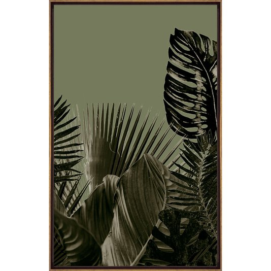 Quadro Tela Canvas Floral com Moldura Cor Mel 50x80 cm