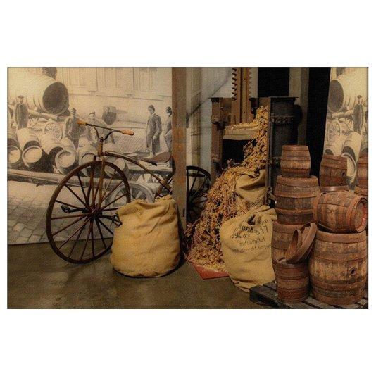 Quadro Tela Decorativa Armazém Antigo Estilo Rústico 150x100cm
