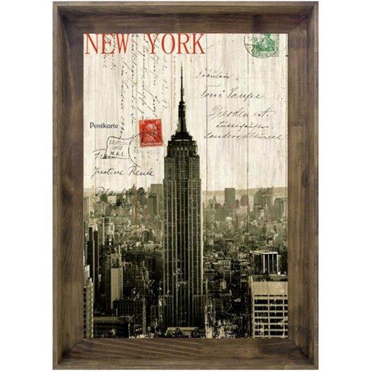 Quadro Tela Decorativa Emoldurada New York Empire State Building 80x110cm