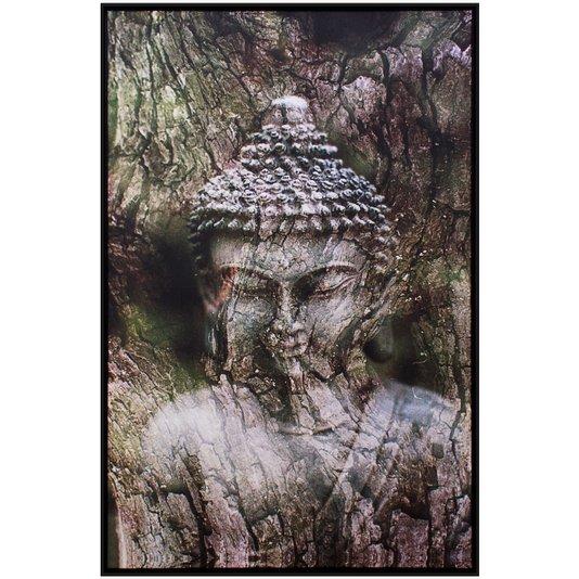 Quadro Tela Decorativa Emoldurada Religiosa Buda 75x115cm