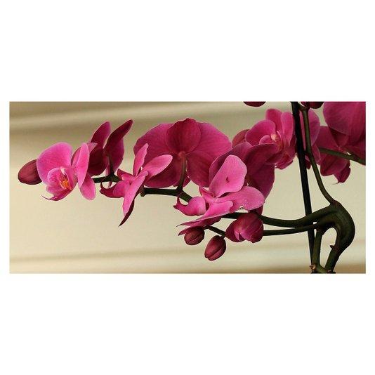 Quadro Tela Decorativa Flor Orquídea Rosa 70x35cm