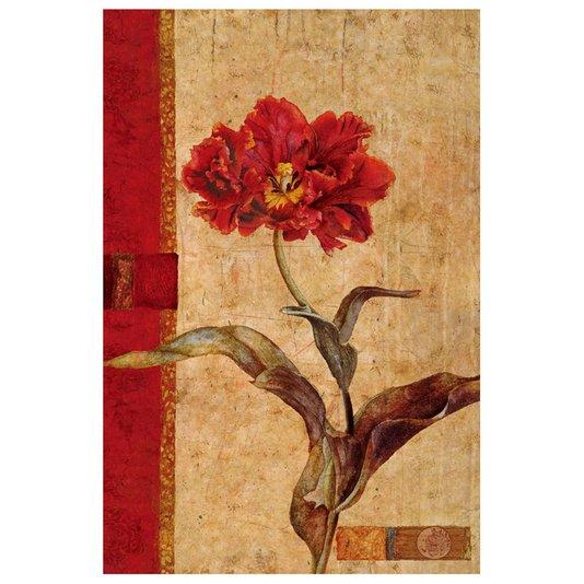Quadro Tela Decorativa Flor Vermelha 60x90cm