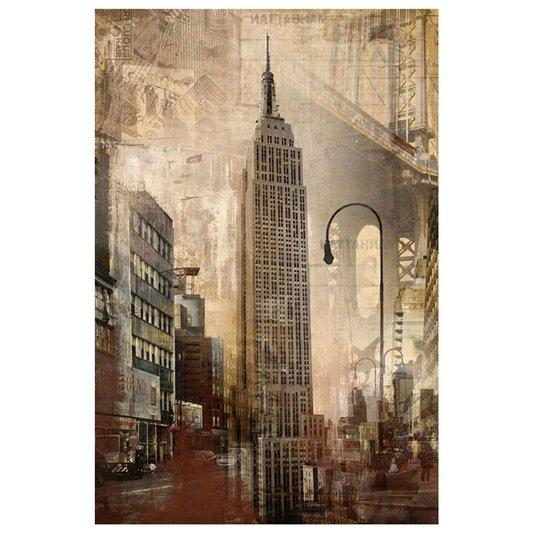 Quadro Tela Decorativa Impressão Digital Arranha céu Empire State Building de Nova Iorque 60x90cm