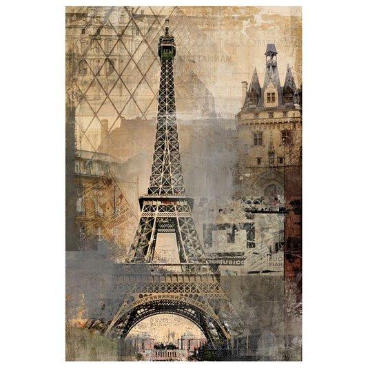 Quadro Tela Decorativa Impressão Digital Torre Eiffel Paris França 60x90cm