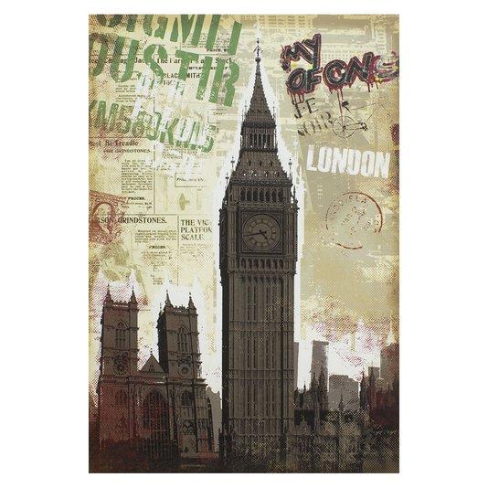 Quadro Tela Decorativa London Torre do Big Ben ou Torre do Relógio 60x90cm
