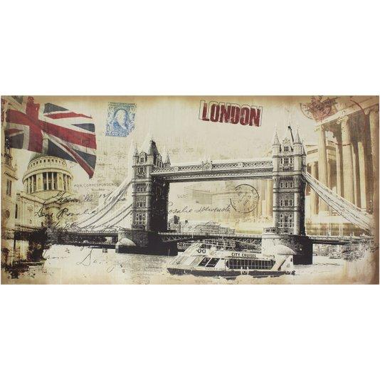 Quadro Tela Decorativa Londres Pontos Turísticos 120x60cm