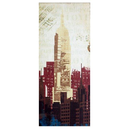 Quadro Tela Decorativa New York Arranha céu Empire State Building 50x120cm