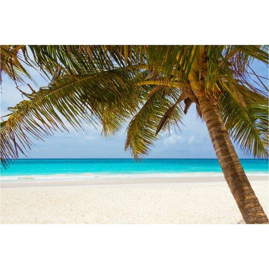 Quadro Tela Decorativa Paisagem Praia com Coqueiro 100x70cm