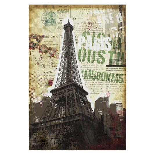 Quadro Tela Decorativa Paris Torre Eiffel França 60x90cm