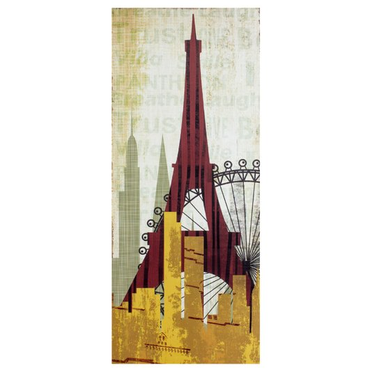 Quadro Tela Decorativa Torre Eiffel Paris França 50x120cm