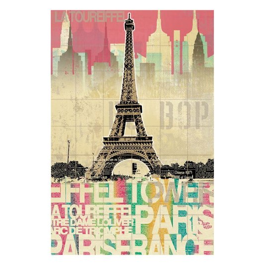 Quadro Tela Decorativa Torre Eiffel Paris França 60x90cm