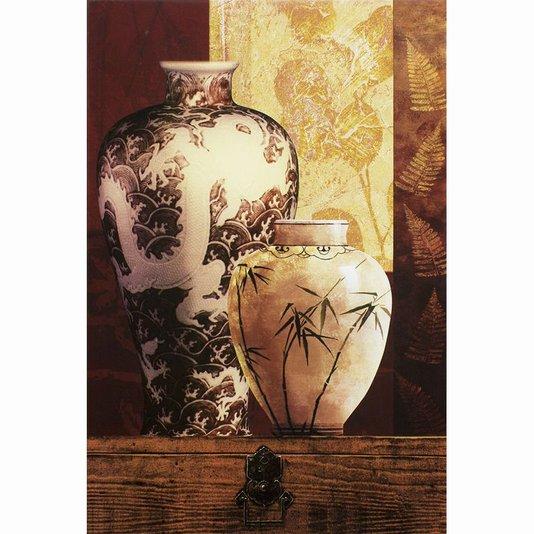 Quadro Tela Decorativa Vasos Brancos 60x90cm