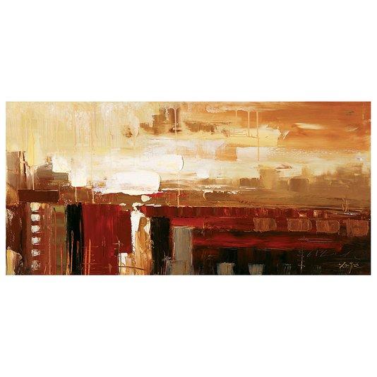 Quadro Tela Impressa Abstrata Multicolorido 120x60cm