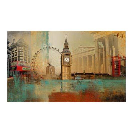 Quadro Tela Impressa Londres -Torre Big Ben 100x60cm