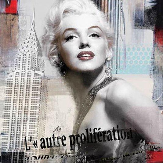 Quadro Tela Impressa Marilyn Monroe Nova York 60x60cm