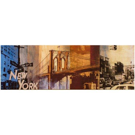 Quadro Tela Impressa Nova York 120x40cm
