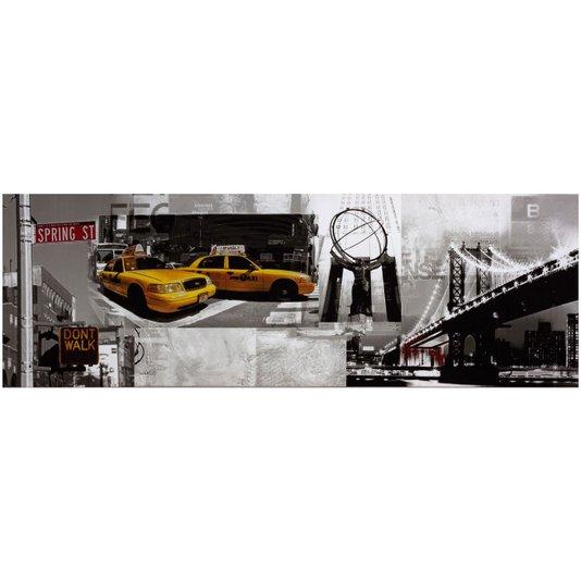 Quadro Tela Impressa Nova York 150x50cm