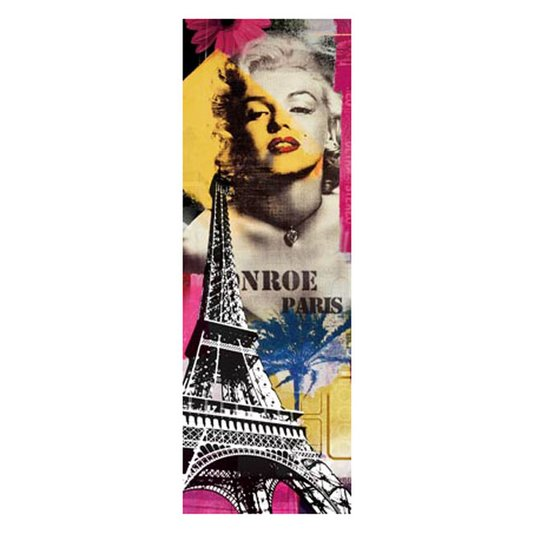 Quadro Tela Impressa Paris Monroe 30x90cm