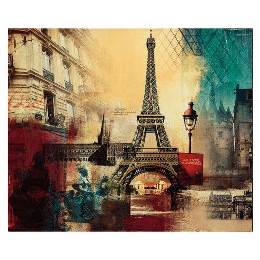 Quadro Tela Impressa Paris Torre Eiffel 120x100cm