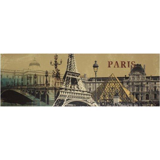 Quadro Tela Impressa Pontos Turísticos de Paris 150x50cm