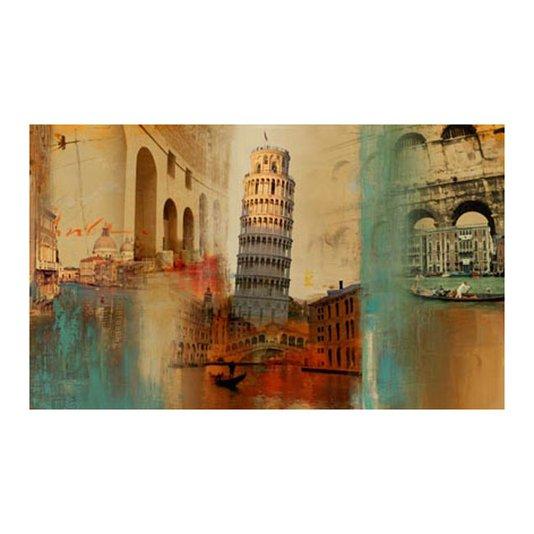 Quadro Tela Impressa Torre de Pisa Itália 100x60cm