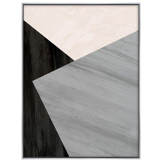 Tela Canvas Arte Geométrica com Moldura Flutuante 90x120 cm