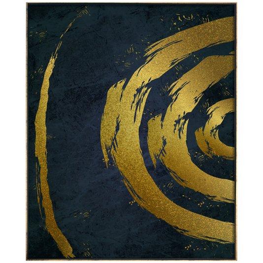 Tela Canvas Arte Moderna Gold com Moldura Dourada 90x120 cm