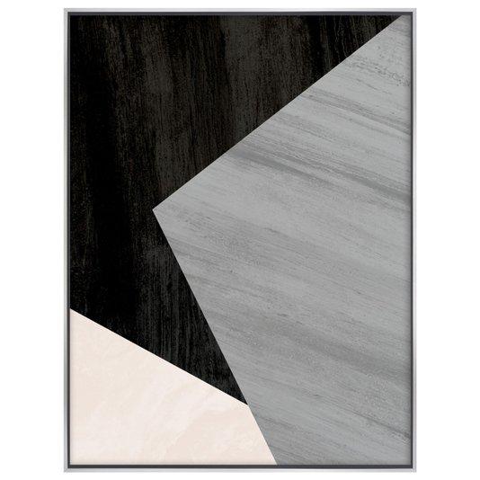 Tela Canvas com Moldura Flutuante Arte Geométrica 90x120 cm