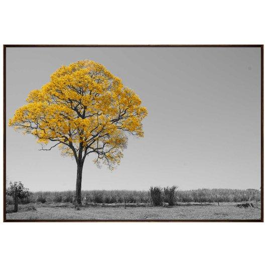 Tela Decorativa em Preto e Branco Ipê Amarelo 150x100 cm
