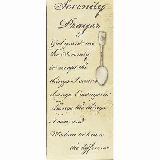 Tela Decorativa Religiosa Oração da Serenidade 25x60cm