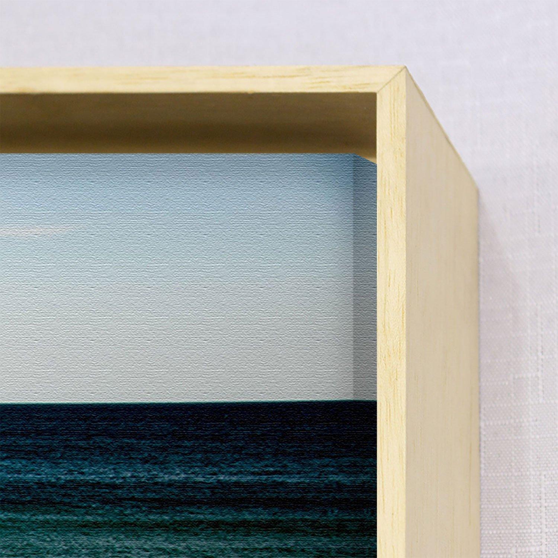Par de Quadros Tela Canvas com Moldura Paisagem Mar 130x80 cm