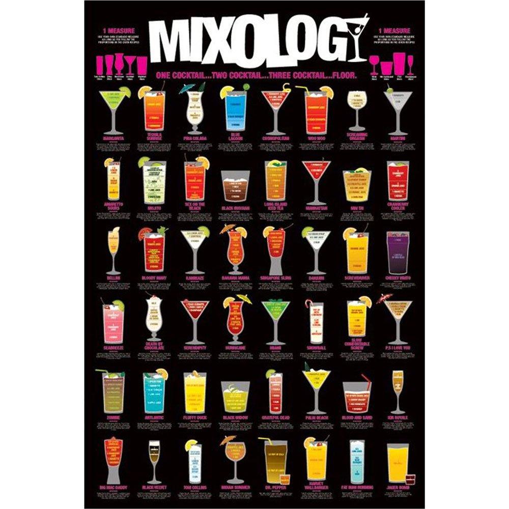 Pôster Receitas de Drinks com ou sem Moldura 60x90 cm