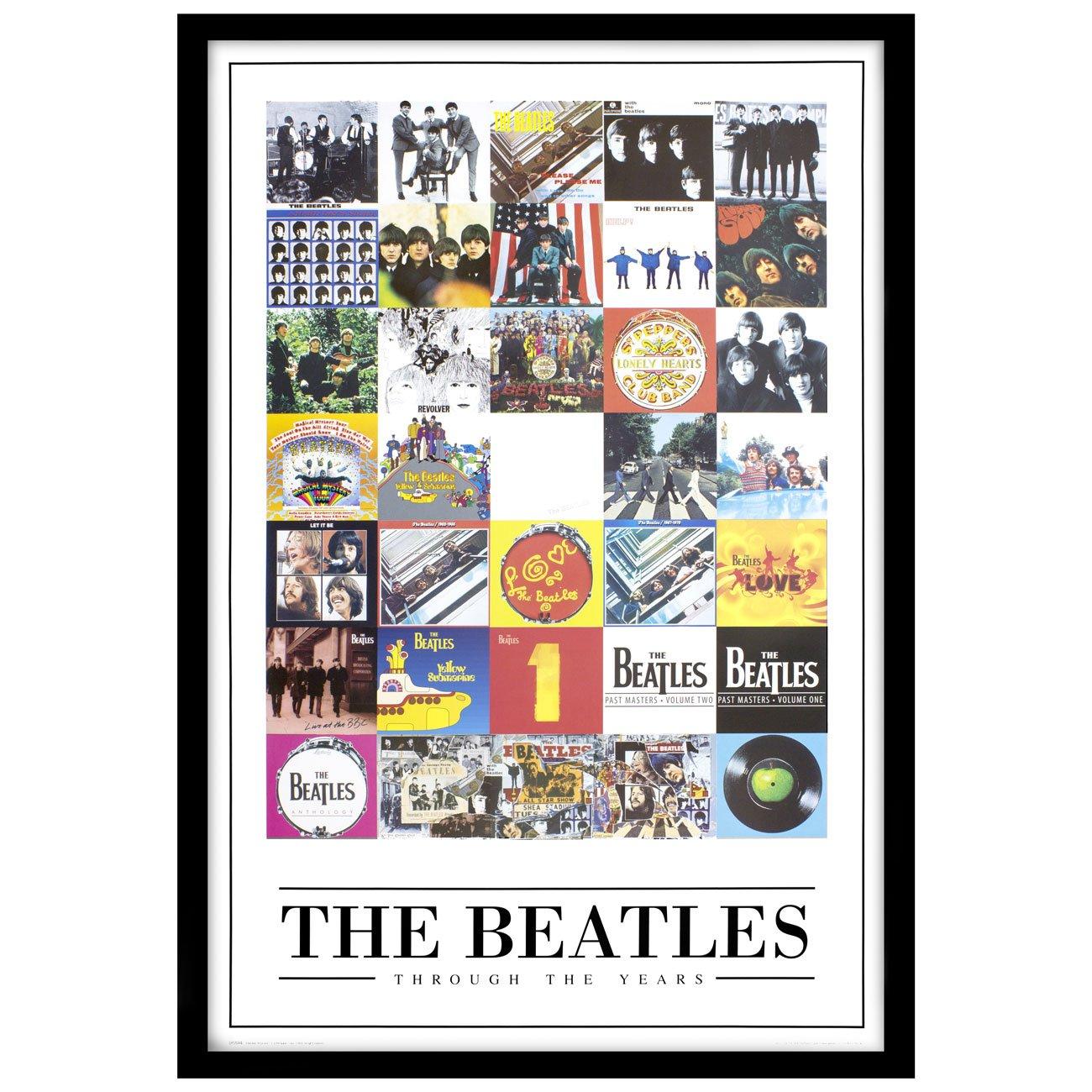 Poster The Beatles Álbuns ao Longo da Carreira com ou sem Moldura 60x90 cm