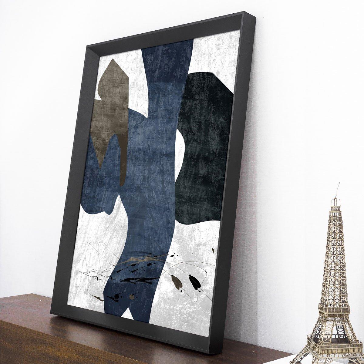 Quadro Abstrato Moderno Azul Ii - 65x85cm