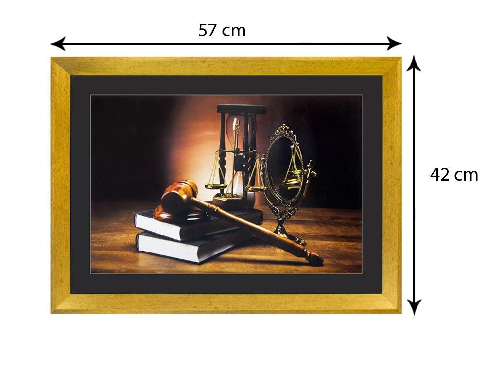 Tamanho Exato do Quadro (LxA): 57x42 cm.