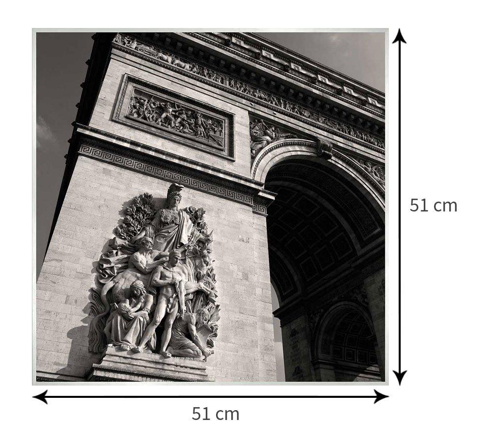 Tamanho exato do quadro com moldura: 51x51 cm.