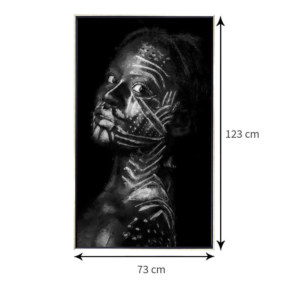 Tamanho exato do quadro com moldura: 73x123 cm