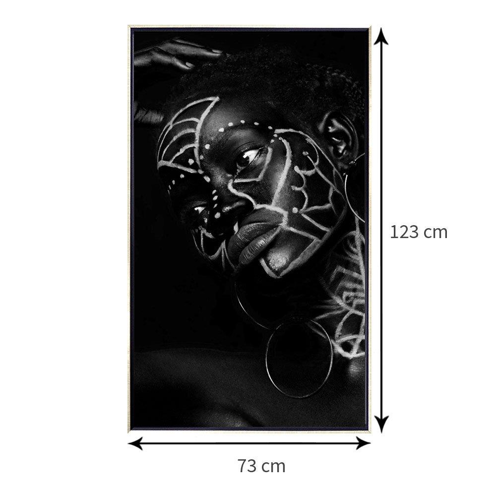Tamanho exato da tela canvas com moldura flutuante: 73x123 cm.