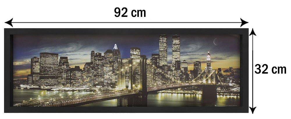 Tamanho exato do quadro (Largura x Altura): 92x32 cm