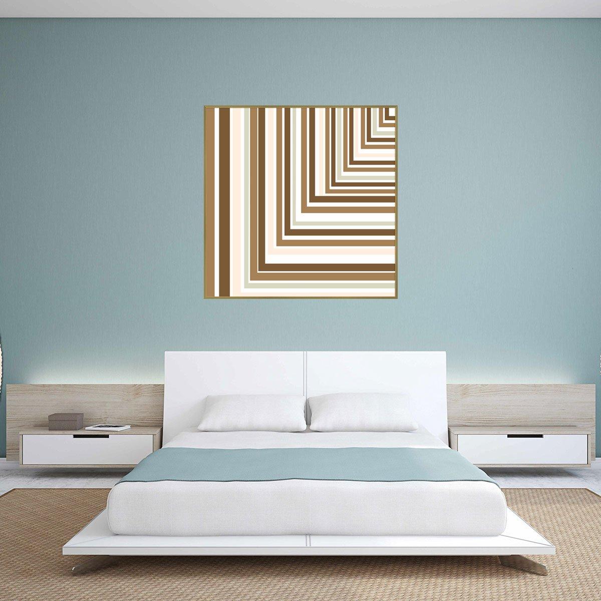 Quadro com Impressão em Vidro Abstrato Geométrico Ângulo 90º - 80x80 cm