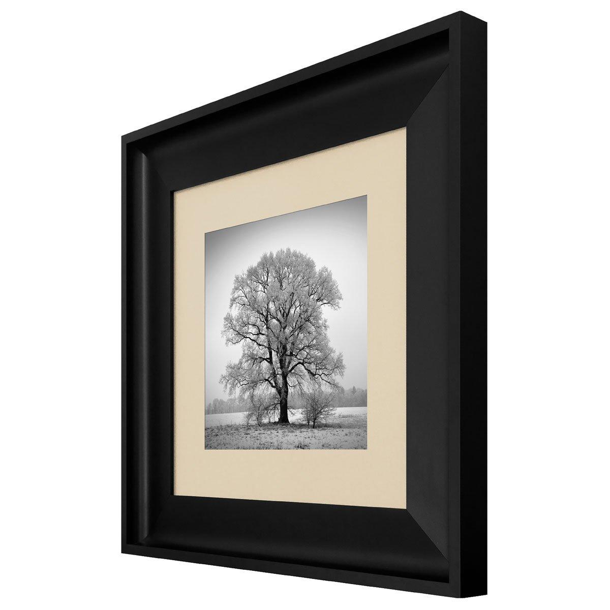 1a28efb09 Quadro com Moldura Preta Paisagem Árvore sem Folhas 60x60cm - Decore ...