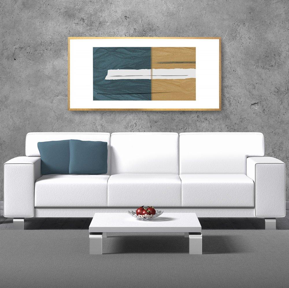 Quadro Decorativo com Ilustração Abstrata.