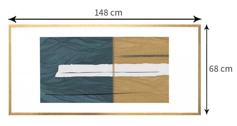 Tamanho personalizável (Largura x Altura):148x68 cm
