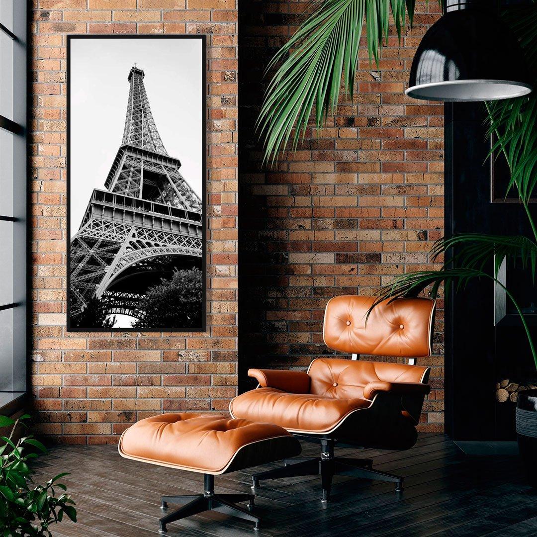 Quadro em preto e branco da Torre Eiffel - Paris.