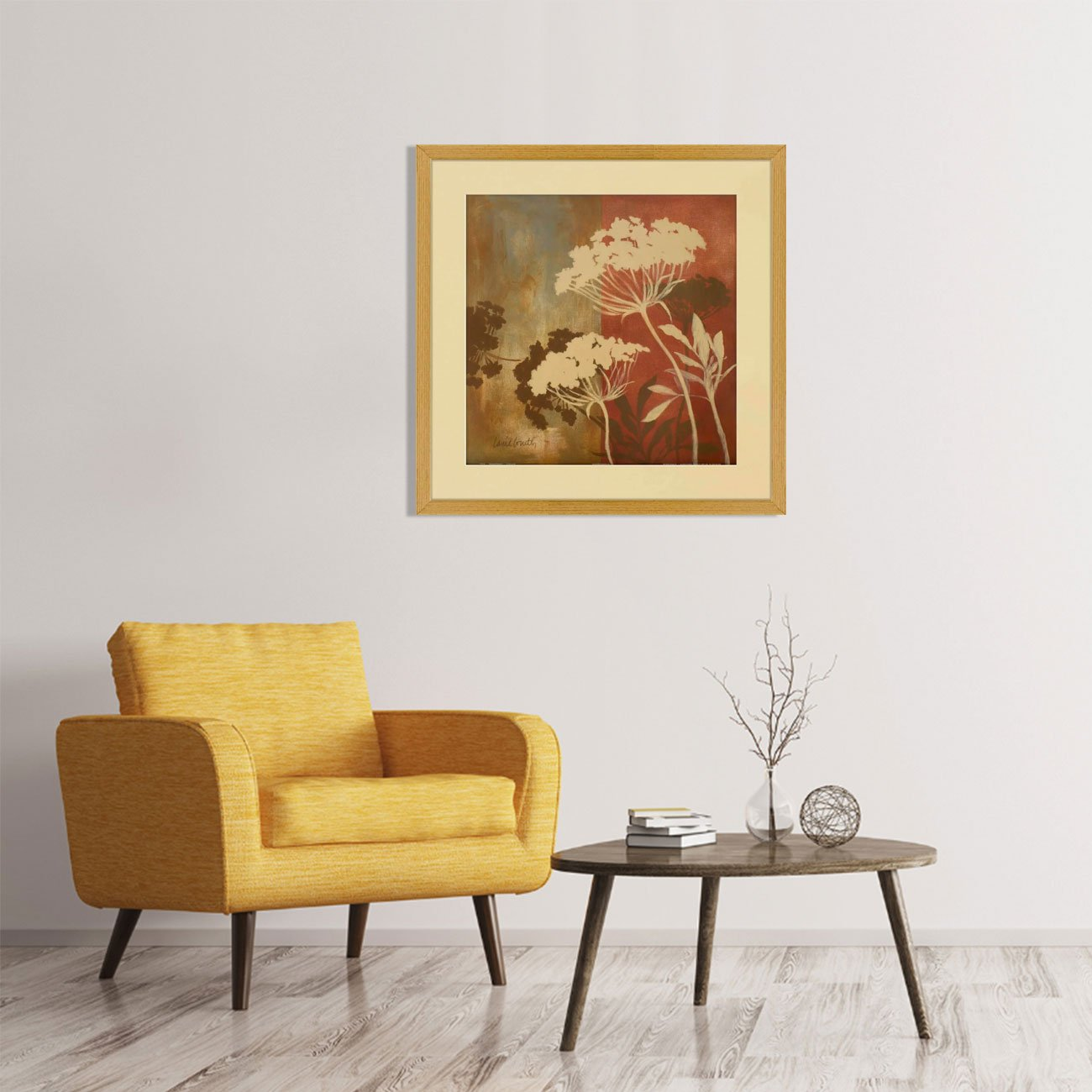 Quadro Decorativo Floral Arte de Lanie Loreth 60x60cm - DP0976