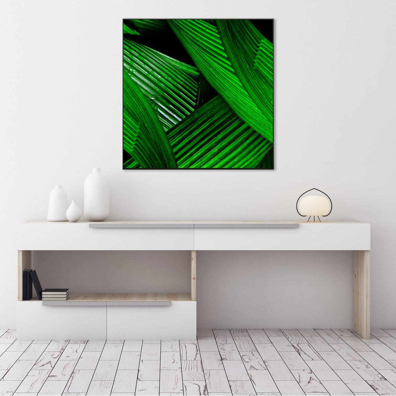 Quadro Decorativo Folhas Verdes por Dorival Moreira 80x80 cm